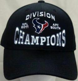 NFL グッズ 2011 AFC SOUTH Division Champions Official Locker Room CAP(BLACK)/Houston Texans(ヒューストン テキサンズ)