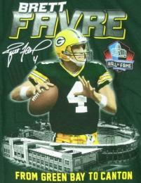 Pro Football Hall of Fame Brett Favre ( ブレッド・ファーブ ) Photo T-Shirt (緑) / GreenBay Packers ( グリンベイ パッカーズ )