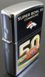 [ NFL SUPERBOWL Limited Edition ZIPPO LIGHTER ] NFL グッズ SUPER BOWL 50 (第50回スーパーボウル)優勝記念ZIPPOライター Denver Broncos ( デンバー ブロンコス )