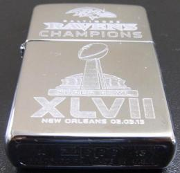 [ NFL SUPERBOWL Limited Edition ZIPPO LIGHTER ] NFL グッズ SUPER BOWL XLVII (第47回スーパーボウル)優勝記念ZIPPOライター Baltimore Ravens ( ボルチモア レイヴンズ )
