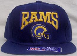 "NFL グッズ NewEra Los Angeles Rams/LA Rams/(ロサンゼルス ラムズ) DeadStock Vintage SNAPBACK CAP ""ヘルメット""(青)"