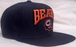 "NFL グッズ NewEra Chicago Bears(シカゴ ベアーズ) DeadStock Vintage SNAPBACK CAP ""ヘルメット""(紺)"