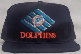 "NFL グッズ AMERICAN NEEDLE DeadStock Vintage SnapBack CAP ""ひし形"" / Miami Dolphins ( マイアミ ドルフィンズ )(黒)"