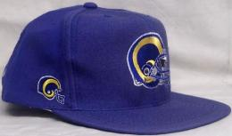 "NFL グッズ AMERICAN NEEDLE DeadStock Vintage SnapBack CAP ""ブロックヘッド"" / Los Angeles Rams ( ロサンゼルス ラムズ )(青)"