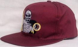 "NFL グッズ AMERICAN NEEDLE DeadStock Vintage SnapBack CAP ""シルエット"" / Washington Redskins ( ワシントン レッドスキンズ )(エンジ)"