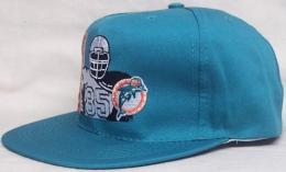 "NFL グッズ AMERICAN NEEDLE DeadStock Vintage SnapBack CAP ""シルエット"" / Miami Dolphins ( マイアミ ドルフィンズ )(アクア)"