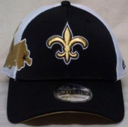 "NFL グッズ NewEra / New Era ( ニューエラ ) "" NFL QB Sneak 39THIRTY FLEX Cap ""/NewOrleans Saints(ニューオリンズ セインツ)"