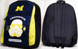 NCAA'14 NCAA COLLEGE グッズ '14 スターウォーズ バックパック (紺/黄)/Michigan Wolverines(ミシガン大)