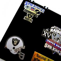 "NFL グッズ Oakland Raiders / Los Angeles Raiders ピンバッチセット ""DEADSTOCK"" National Football League COLLECTORS SET. -LIMITED EDITION-2500"