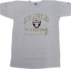 "NFL グッズ 1980s "" Champion tricolor Tag "" Champion DeadStock Vintage Heavy Weight T-shirt Los Angeles Raiders / LA Raiders ( ロサンゼルス レイダース )"