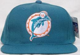 """NFL グッズ NewEra DeadStock Vintage SnapBack Cap-ベーシックロゴ キャップ""(アクア)/Miami Dolphins(マイアミ ドルフィンズ)"